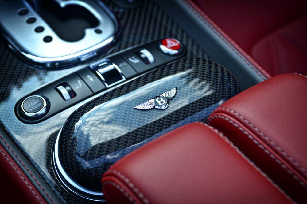 Carbon Mittelkonsole eines Bentley Continental