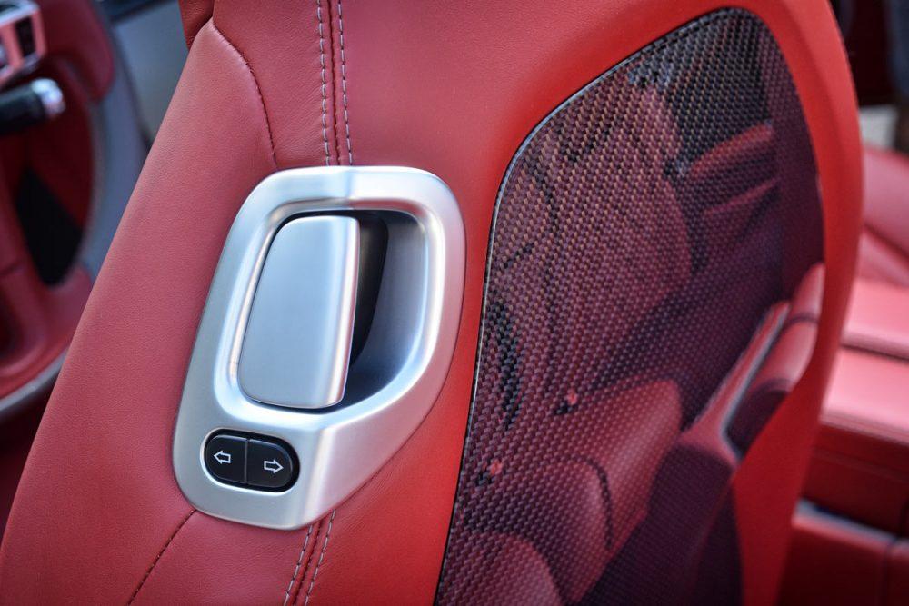 Carbon-Ruecklehne eines Bentley Continental