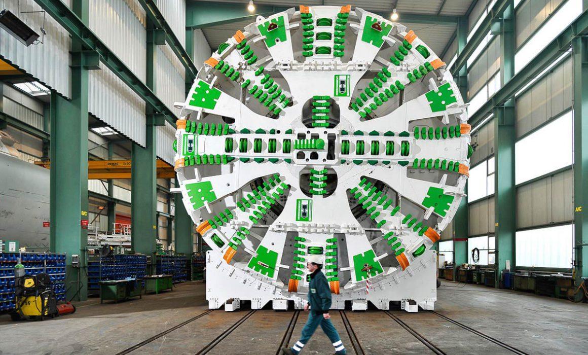Tunnelbohrmaschine Frontansicht