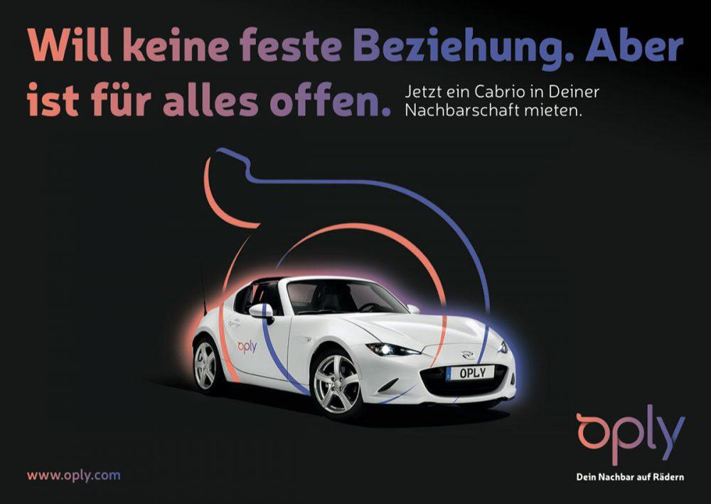 Oply Anzeige Mietwagen Mazda MX-5