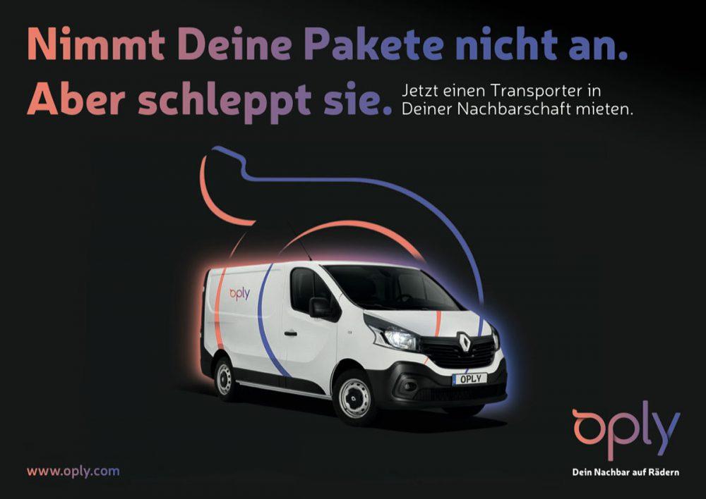 Oply Anzeige Mietwagen Transporter Renault