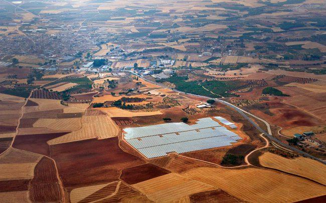 Luftbild Solaranlage