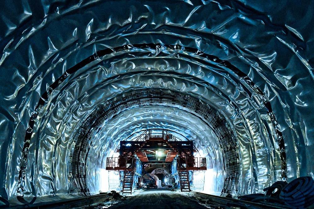 Baumaßnahme Tunnelabdichtung Tunnel Oberau